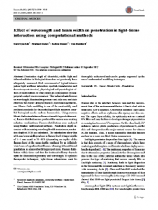 Effect of Wavelength and Beam Width on Penetration